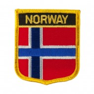 Europe Flag Embroidered Patch Shield - Norway