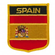 Europe Flag Embroidered Patch Shield - Spain