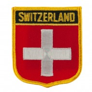 Europe Flag Embroidered Patch Shield - Switzerland