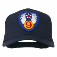 9th Air Force Division Patched Cap - Navy