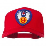 9th Air Force Division Patched Cap - Red