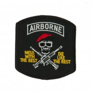 Air Borne Embroidered Military Patch - Mess