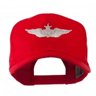 Senior Aircraft Crewman Airforce Badge Embroidered Cap - Red