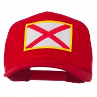 Eastern State Alabama Embroidered Patch Cap - Red
