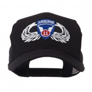 Air Borne Wing Shape Patched Mesh Cap - 11th