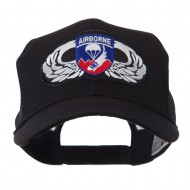 Air Borne Wing Shape Patched Mesh Cap - 187th