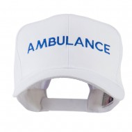 Ambulance Embroidered Cap - White