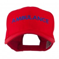 Ambulance Embroidered Cap - Red