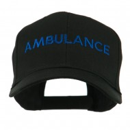 Ambulance Embroidered Cap - Black