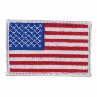 American Flag Patch - White Ace