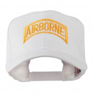 Air Force Unit of Airborne Embroidered Cap - White