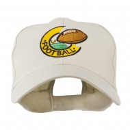 American Football Field and Ball Embroidered Cap - Stone
