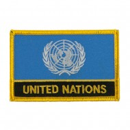 Asia and Australia Flag Name Embroidered Patch - United Nations