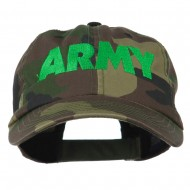 US Army Embroidered Enzyme Washed Camo Cap - Camo