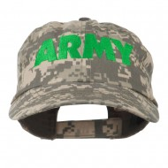 US Army Embroidered Enzyme Washed Camo Cap - Digital Camo