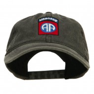 82nd Airborne Embroidered Washed Cap - Black