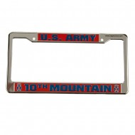 Army 3D License Plate Frame - 10th