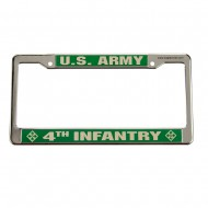Army 3D License Plate Frame - 4th