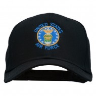 US Air Force Logo Embroidered Cap - Black