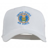 US Air Force Logo Embroidered Cap - White