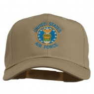 US Air Force Logo Embroidered Cap - Khaki