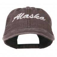 US State Alaska Embroidered Washed Cap - Brown