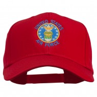 US Air Force Logo Embroidered Cap - Red
