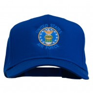 US Air Force Logo Embroidered Cap - Royal