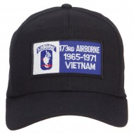 173rd Airborne Military Patched Cap - Black