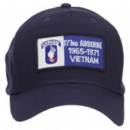173rd Airborne Military Patched Cap - Navy