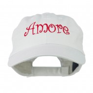Wording of Amore Embroidered Cap - White