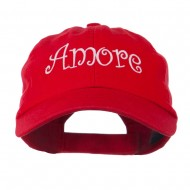 Wording of Amore Embroidered Cap - Red