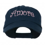 Wording of Amore Embroidered Cap - Navy
