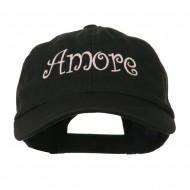 Wording of Amore Embroidered Cap - Black