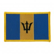 America Flag Embroidered Patches - Barbados