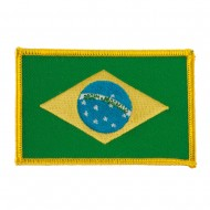 America Flag Embroidered Patches - Brazil