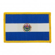 America Flag Embroidered Patches - El Salvador