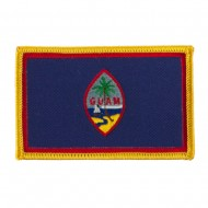 America Flag Embroidered Patches - Guam