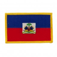 America Flag Embroidered Patches - Haiti