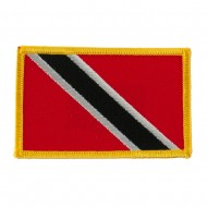 America Flag Embroidered Patches - Trinidad