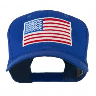 American Flag Embroidered Cap - Royal
