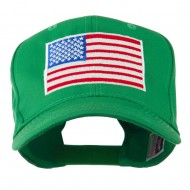 American Flag Embroidered Cap - Kelly