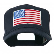 American Flag Embroidered Cap - Navy