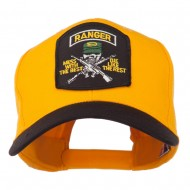 US Army Ranger Military Patched Two Tone High Cap - Black Gold