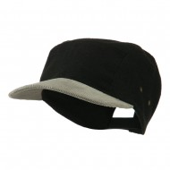 Adjustable 4 Panel Baseball Cap - Black