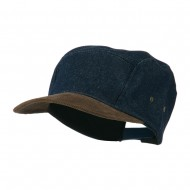 Adjustable 4 Panel Baseball Cap - Denim