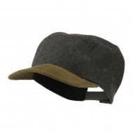 Adjustable 4 Panel Baseball Cap - Grey