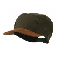 Adjustable 4 Panel Baseball Cap - Olive