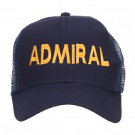 Admiral Embroidered Mesh Cap - Navy