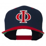 Greek Alphabet PHI Embroidered Cap - Navy Red